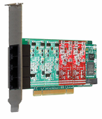 Digium 1A4A00F 4 Port Modular Analog PCI Card