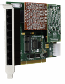 Digium 1A8A00F 8 Port Modular Analog PCI Card