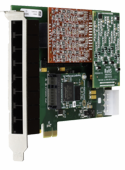 Digium 1A8B00F 8 Port Modular Analog PCI Express x1 Card