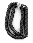 Extended Length Handset Cords for Avaya 9500, and 9600 Series (Charcoal Gray) 5/pk.