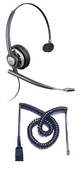 Plantronics HW291N Headset Package for Polycom SoundPoint IP and VVX Phones