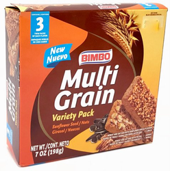 Bimbo Multigrain Variety Pack Nuts and Sunflower 6 Twin Pack (Pack of 3)