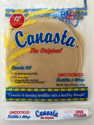 Canasta Uncooked Fresh Flour Tortillas with Canola Oil (Blue Label)