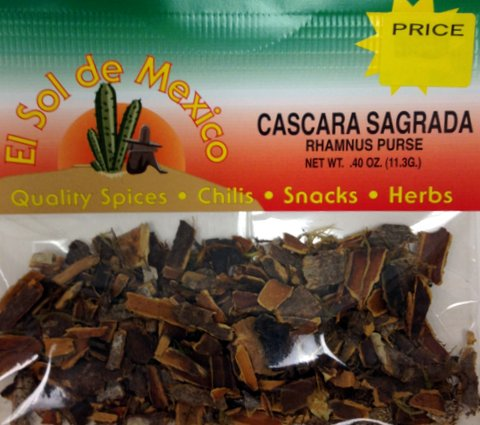 Cascara Sagrada - Rhamnus Purse by El Sol de Mexico .40 oz