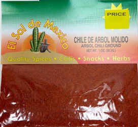 Chile de Arbol Molido Ground Chili by El Sol de Mexico