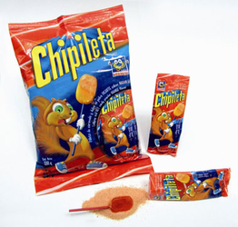 Chipileta Orange Lollipop and Hot Candy Powder 11.6 oz