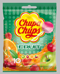 Chupa Chups 4 Fruit Flavors Lollipops (Pack of 3)