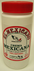 Crema Mexicana (Sour Cream) El Mexicano (Pack of 3)