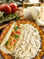 Del Real Foods Shredded Chicken for Tacos