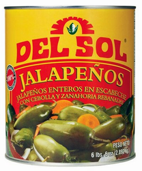 Del Sol Whole Jalapenos (6 lbs. 6 oz)