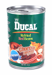Ducal Red Refried Beans with Chorizo (Pack of 3)