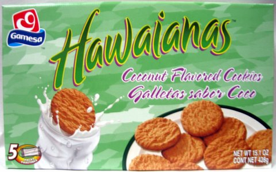 Gamesa Hawaiians Cookies