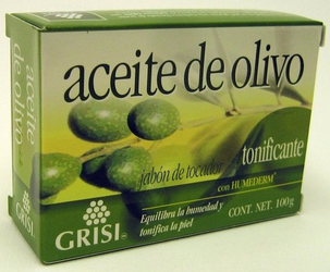 GRISI Aceite de Olivo - Olive Oil Bar Soap (Pack of 3)
