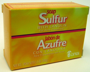 GRISI Azufre - Sulfur with Lanolin Bar Soap (Pack of 3)