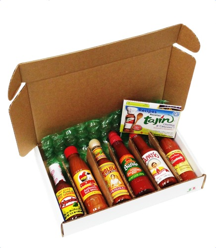 Mexican hot sauce buy a hot sauce gift pack at mexgrocer 6 hot sauce lovers gift pack image 1 negle Images
