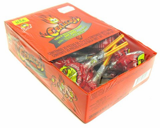 Indy Cerillos Spicy and Sour Candy Watermelon Lollipop