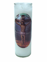 Jesus Christ Crucified Candle (Pack of 6)