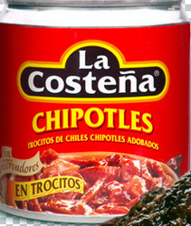 La Costena Chipotle Diced Chipotle Peppers Glass