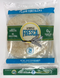 "Flour Tortillas by La Tortilla Fresca 8"" Size - Two Dozen Fajita Size Flour Tortilla in Pack"