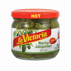 La Victoria Nacho Sliced Jalapeños -  Hot (Jar)