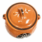 Lead Free Clay Bean Pot with Lid - Olla Floreada con Tapa Tonala - image 3