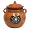 Lead Free Clay Bean Pot with Lid - Olla Floreada con Tapa Tonala - image -1