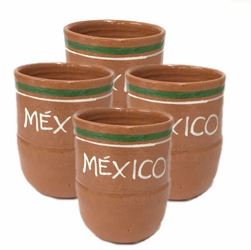 Lead Free Jarritos Mexico Clay Cup Small (Pack of 4)