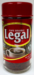 LEGAL Instant Coffee - Cafe Soluble con Azucar Caramelizada