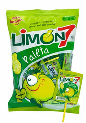 Limon 7 Lollipop Covered with Salt & Lime Powder (10.58 oz)