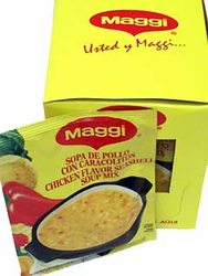 Maggi Chicken Flavored Seashell Soup Mix (Pack of 3)
