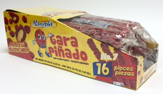 Manzela Cacahuate Garapiñado - Candy Covered Peanuts - 16 pieces