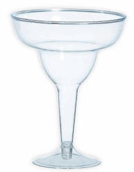 Margarita Glass Clear Plastic (Pack of 20)