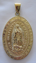 Medalla de Oro Virgen de Guadalupe - Our Lady of Guadalupe Gold Medal - Xlarge