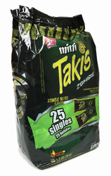 Mini Takis ZOMBIE Habanero & Cucumber Flavored Rolled Tortilla (25 units 1.2 oz ea)