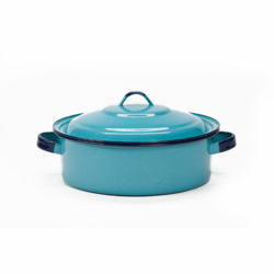 Olla Corta Color Azul 5 Dutch Oven with Lid Turquoise CINSA