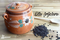 Olla de Barro Frijolera sin Plomo / Lead Free Clay Bean Pot with lid Large - image 1