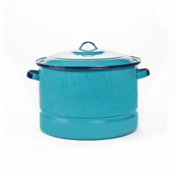 Olla Vaporera color Turquesa Steamer Pot with Lid and Trivet CINSA