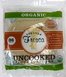 Organic Uncooked Flour Tortillas by Fresca