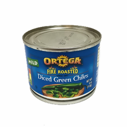 Ortega Fire Roasted Dice Green Chiles (Pack of 6)