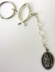 Our Lady of Guadalupe Key Chain One Minute Traffic Rosary