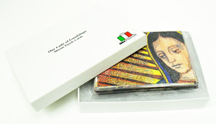 Our Lady of Guadalupe Mosaic Puzzle Cards by Marlen