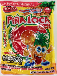 Pina Loca Paletas - Crazy Pineapple Lollipops Alteno