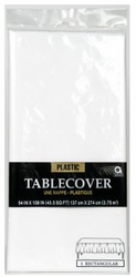 Plastic Table Cover Frosty White