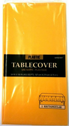 Plastic Table Cover yellow sunshine