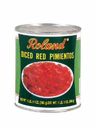 Roland Diced Red Sweet Peeled Pimientos
