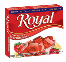 Royal: Fresca-Strawberry Banana Gelatin (Pack of 3)