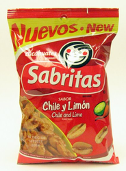 Sabritas Chile and Lime Peanuts - Cacahuates (Pack of 3)