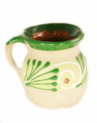 Sandy Decorated Clay Mug - Jarrito Ponche - Assorted Colors