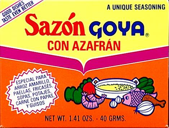 Sazon Goya Azafran Seasoning