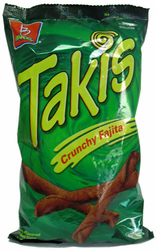 Takis Crunchy Fajita Taco Flavored Rolled Corn Tortilla Minis (Pack of 3)